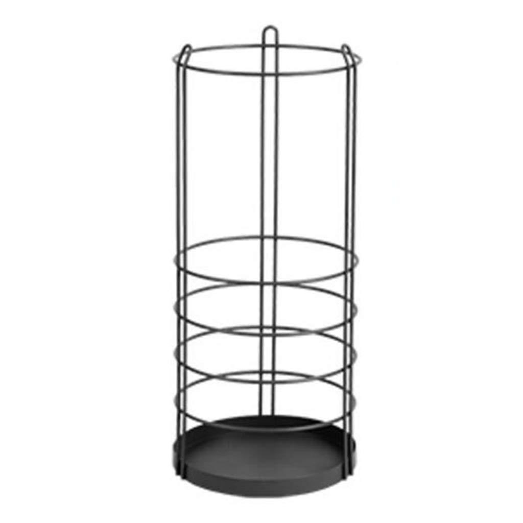 鉄の傘立て耐食家庭用フロアスタンド廊下傘バケツ(黒60×25×2.5cm) B07T72D2ZP