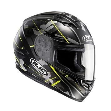 HJC 101674 X S Casco Moto, Negro/Amarillo Neón, XS