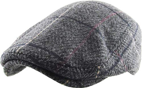 Men's Applejack Ascot Gatsby Newsboy Ivy Cabbie Hat Casual & Dress Style (Large/X-Large, (324) Dark Gray)