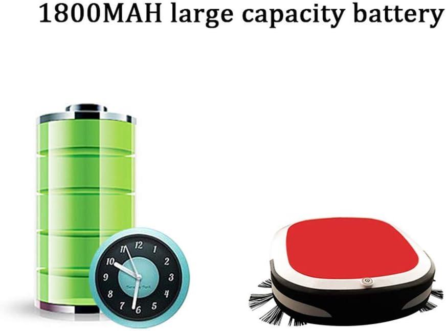ZEH Robot Aspirateur 7cm Super Mince 55dB Calme et Vide Mop 2 en 1 for Cheveux Animaux, Tapis, Carrelage, Sol Dur, Rouge FACAI (Color : Red) Black
