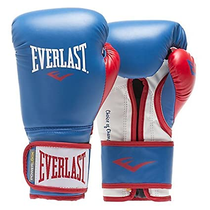 Everlast 14oz Leather Boxing//Sparring Gloves Red//Blue