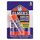Office Products : Elmer's School Glue Sticks 5ct - Disappearing Purple
