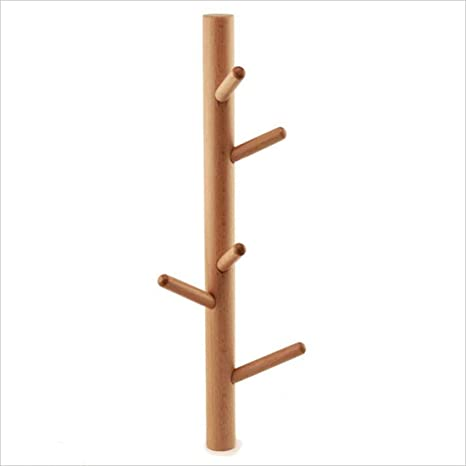 Eeayyygch Perchero de Pared, 5 Ganchos Árbol Vertical Percha ...