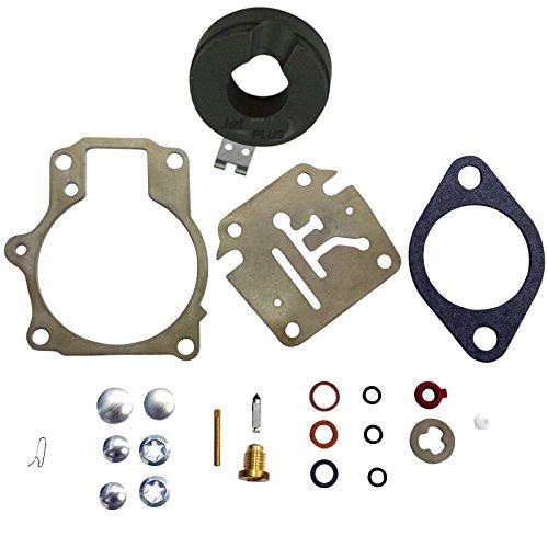 35 Motor Outboard Hp Johnson (Deluxe Venom Brand Carburetor Carb Rebuild Repair Kit w FLOAT Fits MANY Johnson Evinrude 18 20 25 28 30 35 40 45 48 50 55 60 65 70 75 HP Outboard Motors (SEE CHART For Fitment))