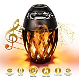 Djtanak Led Bluetooth Speaker, Flame Ambience Lantern Outdoor Speakers with Stereo Sound, Portable Wireless Speaker, Exclusive BassUp, TWS Supported, Night Light Table Lamp BT 4.2 for iPhone Android