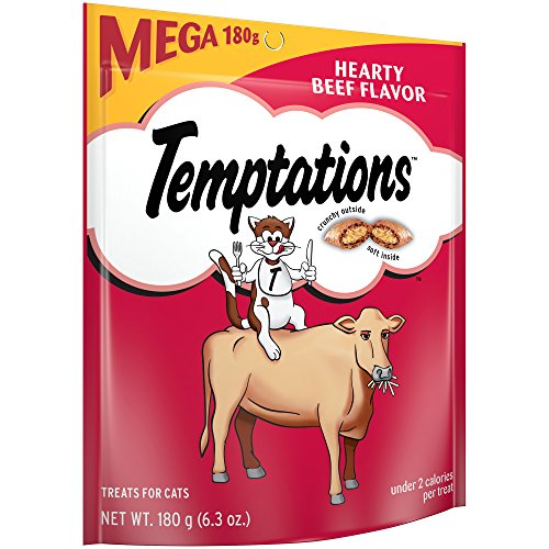 Temptations Classic Treats For Cats Hearty Beef Flavor, 6.3 Oz. Pouch (Pack Of 10)
