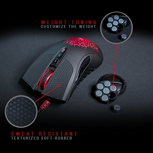 Bloody AL90 Laser Gaming Mouse with Light Strike (LK) Optical Switch & Scroll for Fastest Response - 8 Programmable Buttons and Advanced Macros – 8200 DPI by BLOODY (Image #2)