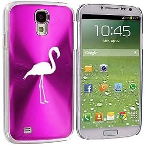Hot Pink Samsung Galaxy S4 S IV i9500 Aluminum Plated Hard Back Case Cover KK105 Flamingo