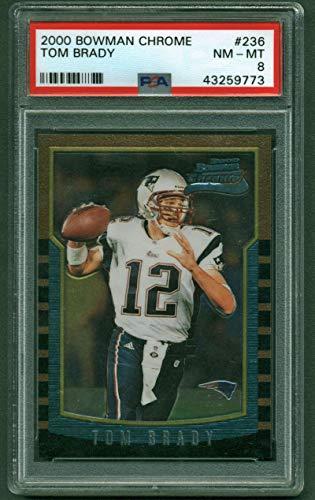 Tom Brady 2000 Bowman Chrome Rookie PSA ()