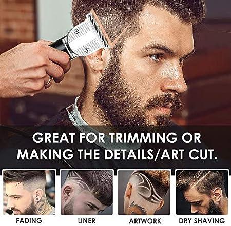 Profesional Cortapelos, BASEIN Cortapelos para hombres, recortador de barba inalámbrico para, kit de peinado a prueba de agua recargable, herramientas para cortar el cabello para hombres