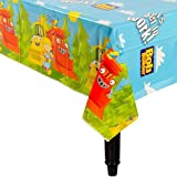 """Bob the Builder Party Reusable Table Cover Tableware, Plastic, 54"""" x 102"""""""