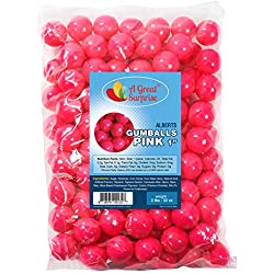 Gumballs in Bulk - Hot Pink - Pink Gumballs for Candy Buffet - Gumballs 1 Inch - Bulk Candy 2 LB