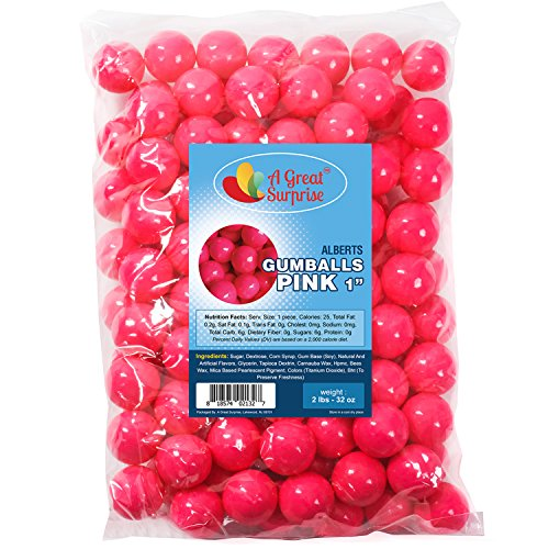Gumballs in Bulk - Hot Pink - Pink Gumballs for Candy Buffet - Gumballs 1 Inch - Bulk Candy 2 ()