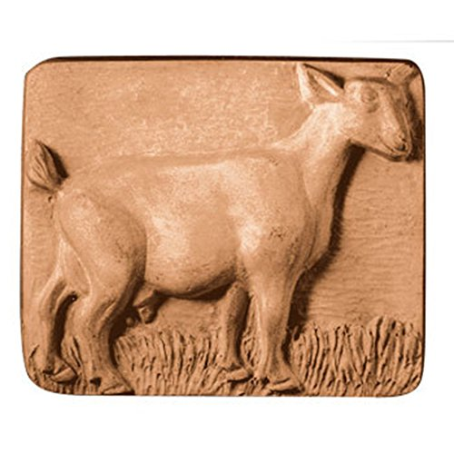 Goat Standing Soap Mold (MW 24) -  Milky Way. Melt & Pour, Cold Process w/ Exclusive Copyrighted Full Color Cybrtrayd Soap Molding Instructions in a Sealed Poly Bag