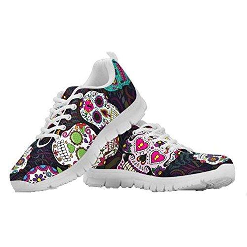5 Shoes Flexible Sneakers Sugar Running Tennis Lightweight Women for Walking Coloranimal Casual Skulls pB7qqf