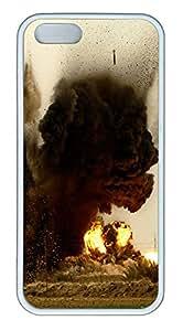 iPhone 5 5S Case Explosion TPU Custom iPhone 5 5S Case Cover White