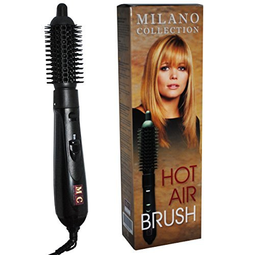 Milano Collection Wigs Hot Air Hair Brush Keeps Hair Looking Fresh! 1″ Inch Barrel