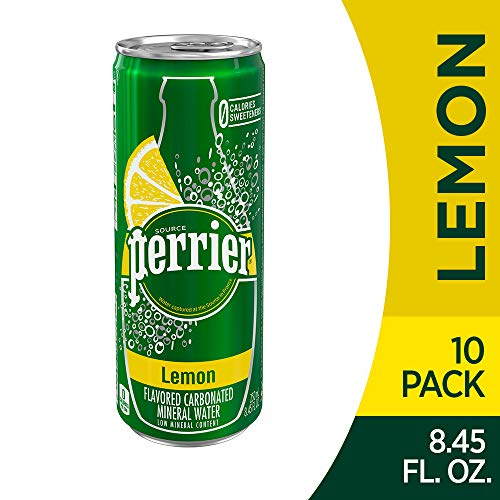 (Perrier Lemon Flavored Carbonated Mineral Water, Lemon, 8.45 Fluid Ounce (Pack of 10))