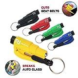 5 Pcs Car Escape Rescue Tool Keychain Glass Breaker Seatbelt Cutter Mini Hammer Emergency Rescue Tool Glass Breaker Car Safety Tool Window Broken Tool Seat Belt Cutter