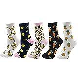 VPM Cartoon Animal&Fruit&Food Women Crew Socks Gift Box 5 Pairs/Lot US 4-7 (801 opp)