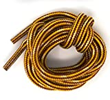 Mercury + Maia Honey Badger Boot Laces W/Kevlar - USA Made Shoelaces (Gold and Natural) (60 inches 2 Pair Pack)