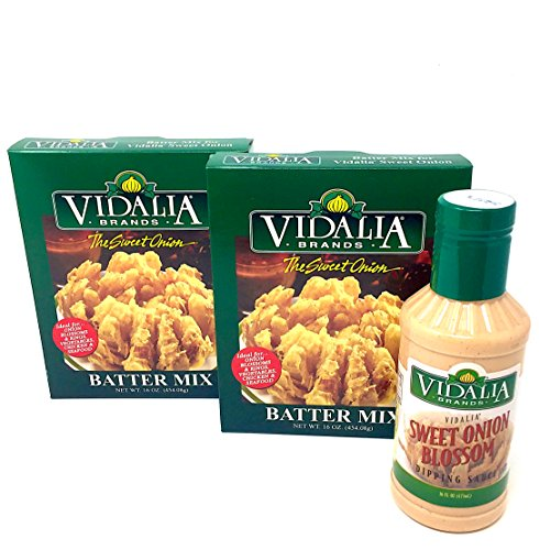 (Fried Batter Mix and Blossom Dipping Sauce - Vidalia Brands - Blooming Onion, Chicken Fingers, Fish, Fried Mushrooms, More!)
