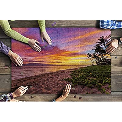 Maui, Hawaii - Kaanapali Beach at Sunset 9031625 (Premium 1000 Piece Jigsaw Puzzle for Adults, 20x30, Made in USA!): Toys & Games