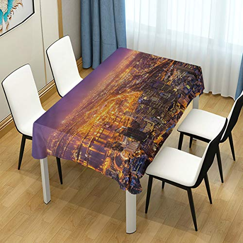 """YOLIKA Decor Tablecloth Cape Town Panorama Africa 60"""" x 120"""" Rectangular Table Cover for Kitchen Dining Party"""