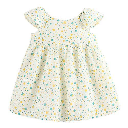 marc janie Girls' Real Silk Printed Dress - French Series Mint Soda 3 Years