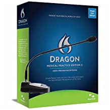Nuance Dragon Medical Practice Edition 2 Desktop Edition with Speechware 3-in-1 TableMike USB Microphone
