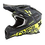 O'Neal 2SERIES Unisex-Adult Off-Road-Helmet-Style SPYDE Helmet (Black/Hi-Viz, Medium)