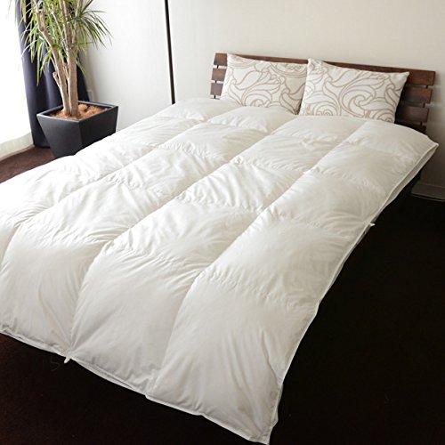 エクセルゴールドラベル 2枚合わせ羽毛布団 セミダブル イングランドチェリバリー ダックダウン90% 綿混生地 日本製 B0093DO132セミダブル