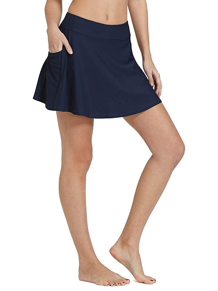 Women's Active Athletic Anytime Skorts with Underneath Shorts Lightweight Quick Dry Workout Skirt with Pocket