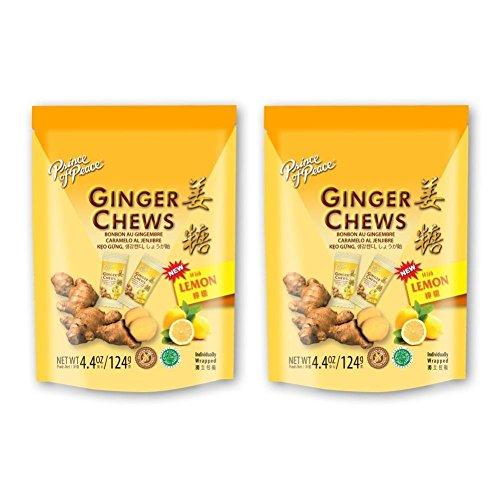 Prince of Peace Ginger Lemon Chews, 4.4oz (Pack of 2)