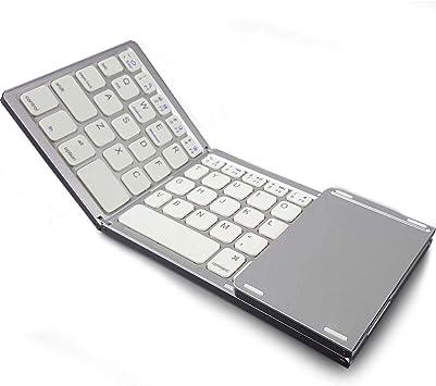 Teclado de computadora inalámbrico Plegable Mini Teclado ...