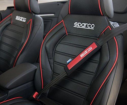Sparco SPC1203 Cuscino Passacintura Rosso//Nero