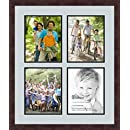 ArtToFrames 1.25-Inch Espresso Picture Frame with 4 Openings of 8 by 10-Inch and a Baby Blue Top Mat and Black Bottom Mat