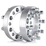 "Wheel Spacers,ECCPP Wheel Spacer 2X 1.5"" 8x6.5 to 8x6.5(8x165.1 mm) for 99-10 Chevy Silverado GMC Sierra 1500HD 2500HD 3500HD Thread Size 14x1.5(126.15 mm) (2PC 1.5"" 8x6.5"")"