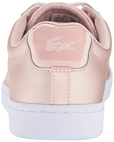Lacoste Women's Carnaby EVO 118 7 Spw Sneaker, Natural/White, 5.5 M US