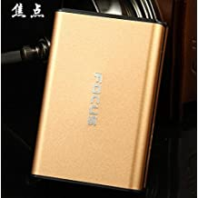 Stylish FOCUS 20 pack Cigarette Case Dispenser (GOLD COLOR)- FOR KING SIZE CIGARETTES (GD-1331-7 , FREE CAR sticky pad for Phone PDA MP3 MP4)
