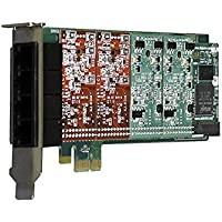Digium 1A4B00F 4 Port 4-Fxs & 0-Fxo Pci Card With EC For 3.3 & 5.0V