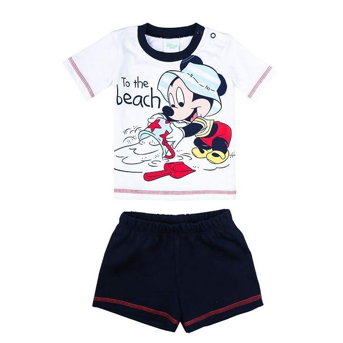 Shorts Disney Jungen Mickey Mouse Set blau Kurze Hose T-Shirt