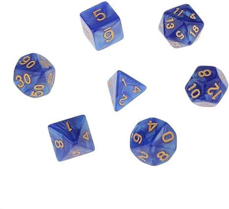 lonfenner Dados,Dados Poliédricas Double-Colors Poliédricas Dados De Juego De rol De Dungeons and Dragons Juego De Mesa DND(Azul 3Pcs): Amazon.es: Deportes y aire libre