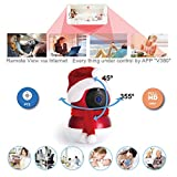 Baby Monitor WiFi IP Camera, Wireless Security Baby Camera 1080P Pan/Tilt & Panoramic Video, 2.4GHz P2P Cloud iPhone/Android, 2-Way Audio, Night Vision, Built-in 16G Memory Card