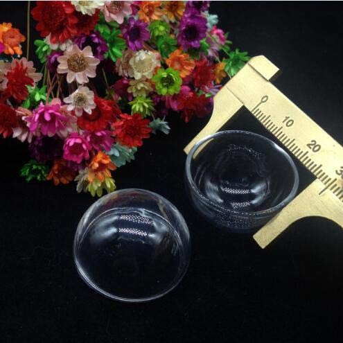 (Majinz Store Clear Glass Pendant 10Pcs 15Mm/16Mm/18Mm/20Mm/25Mm/30Mm Hemisphere Glass Cover Dome DIY Clear Half Round Glass Globe Bubble DIY Glass Vial Pendant)
