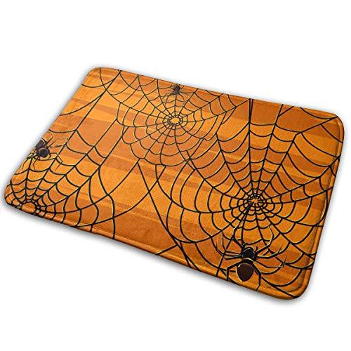 (Homlife Rectangle Thin Doormats Scary Halloween Spiders Graphics Entrance Mat Non-Slip Indoor Outdoor Area Rug Bathroom Mats Coral Fleece Home)