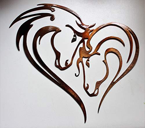 Horse Metal Art - Mothers Heart Horse Heart Metal Wall Art 12