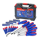 WORKPRO 56-Piece Screwdriver and Bits Set with Blow Molded Case