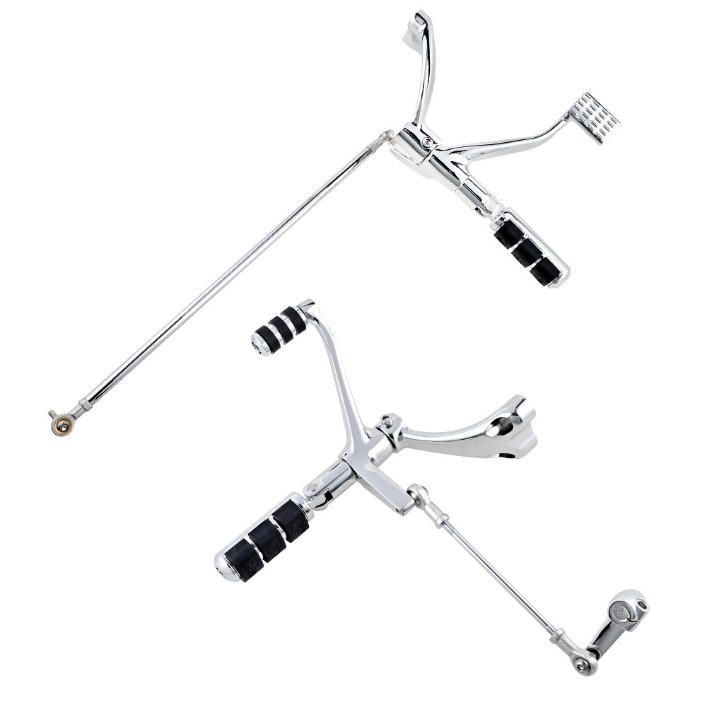 Chrome Forward Controls Peg Levers Linkage Kit for Harley Sportster XL 1200 883