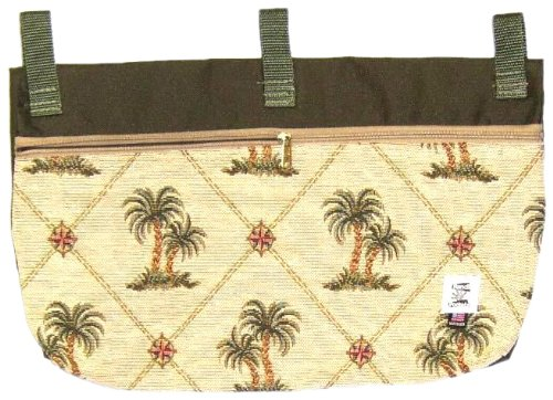 Handi Pockets 2c7ip Storage Accessory Walker, Tapestry, Island Palm with Zipper and Flap
